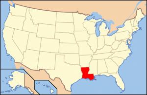louisiana us map