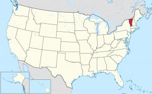 Vermont US map