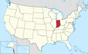 Indiana US map