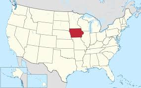 Iowa US map