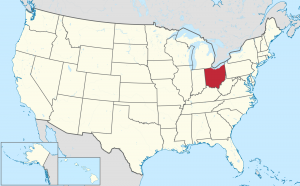 Ohio US map