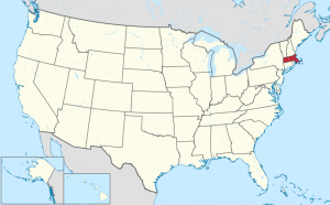Massachusetts US map