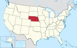 Nebraska US map