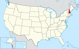 New Hampshire US map