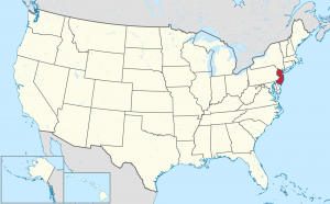 New Jersey US map