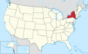 New York US map