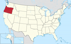 Oregon US map