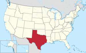 Texas US map