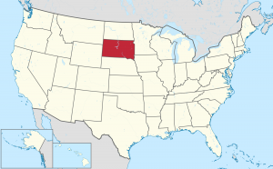 South Dakota US map
