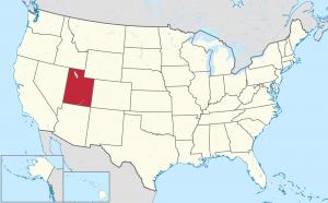 Utah US map