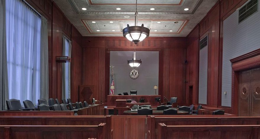 court room interior