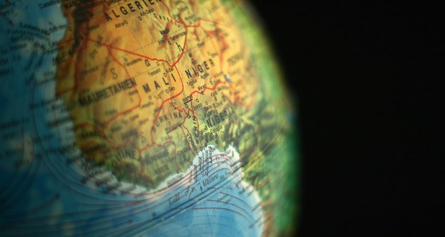 globe positioned on Africa - translation and interpreting services