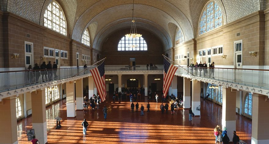 interior of Ellis Island building - immigration and citizenship