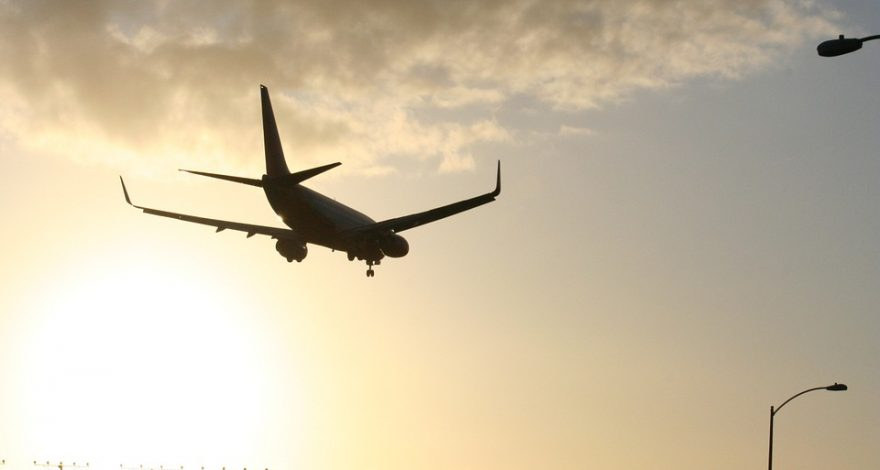 plane descending for landing following international litigation