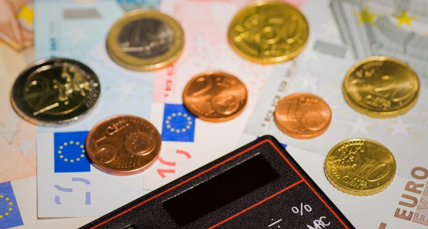 money and calculator - currency translation