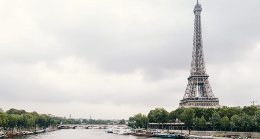 Eiffel tower landscape