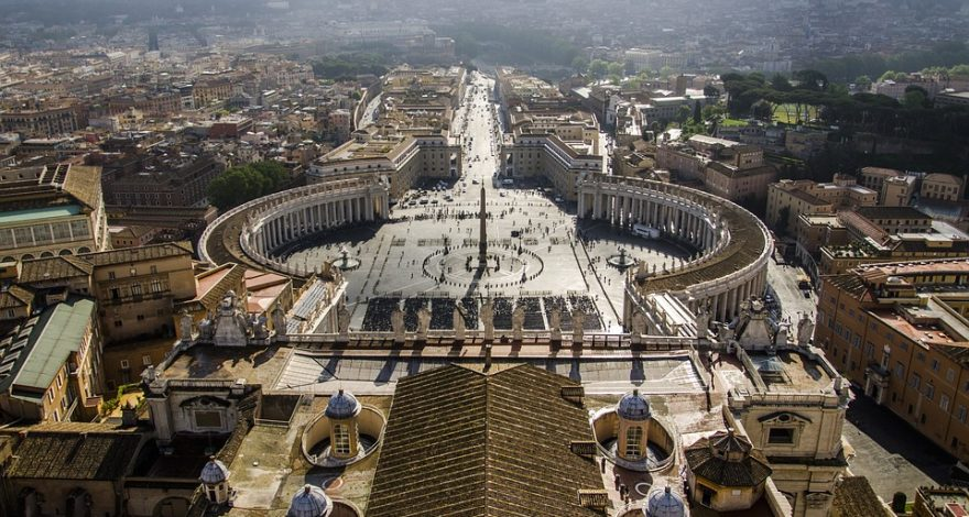 arial view of the Vatican City - legal facts and laws