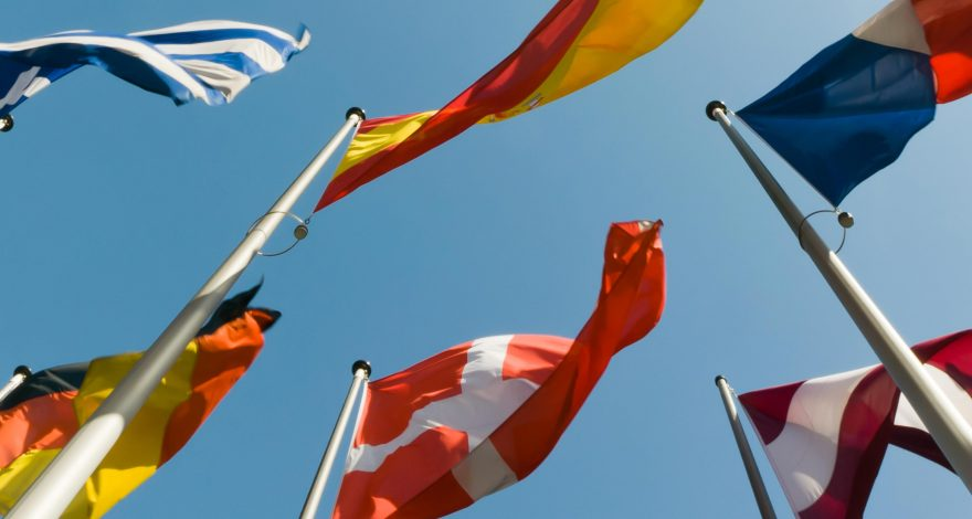 international flags symbolizing the languages available for translation at LLS