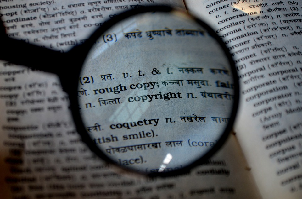looking up copyright in dictionary
