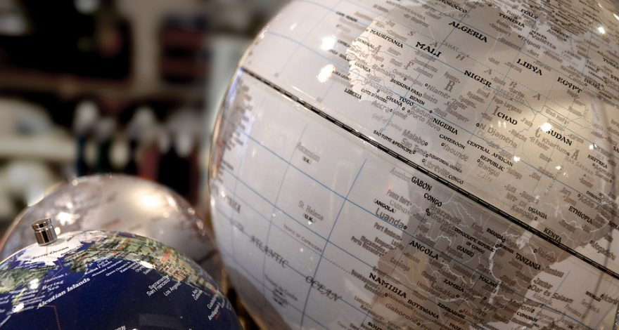 various globes depicting the languages available for interpreting and translation with LLS