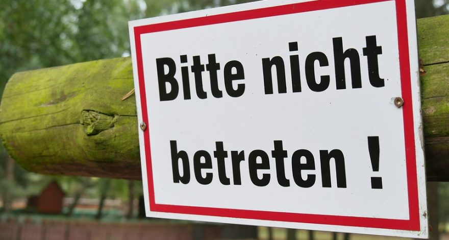 German Do Not Enter Sign