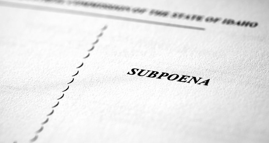 issuing a subpoena