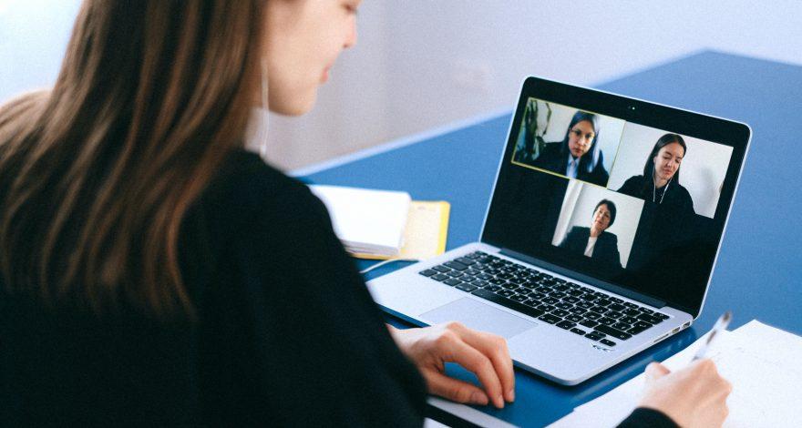 video remote interpreting session in progress